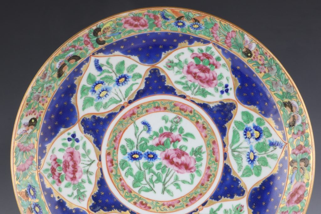 Pair of Chinese Canton Famille Rose Islamic Market Dishes 19thC 2