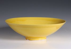 Chinese Yellow Monochrome Bowl 17thC