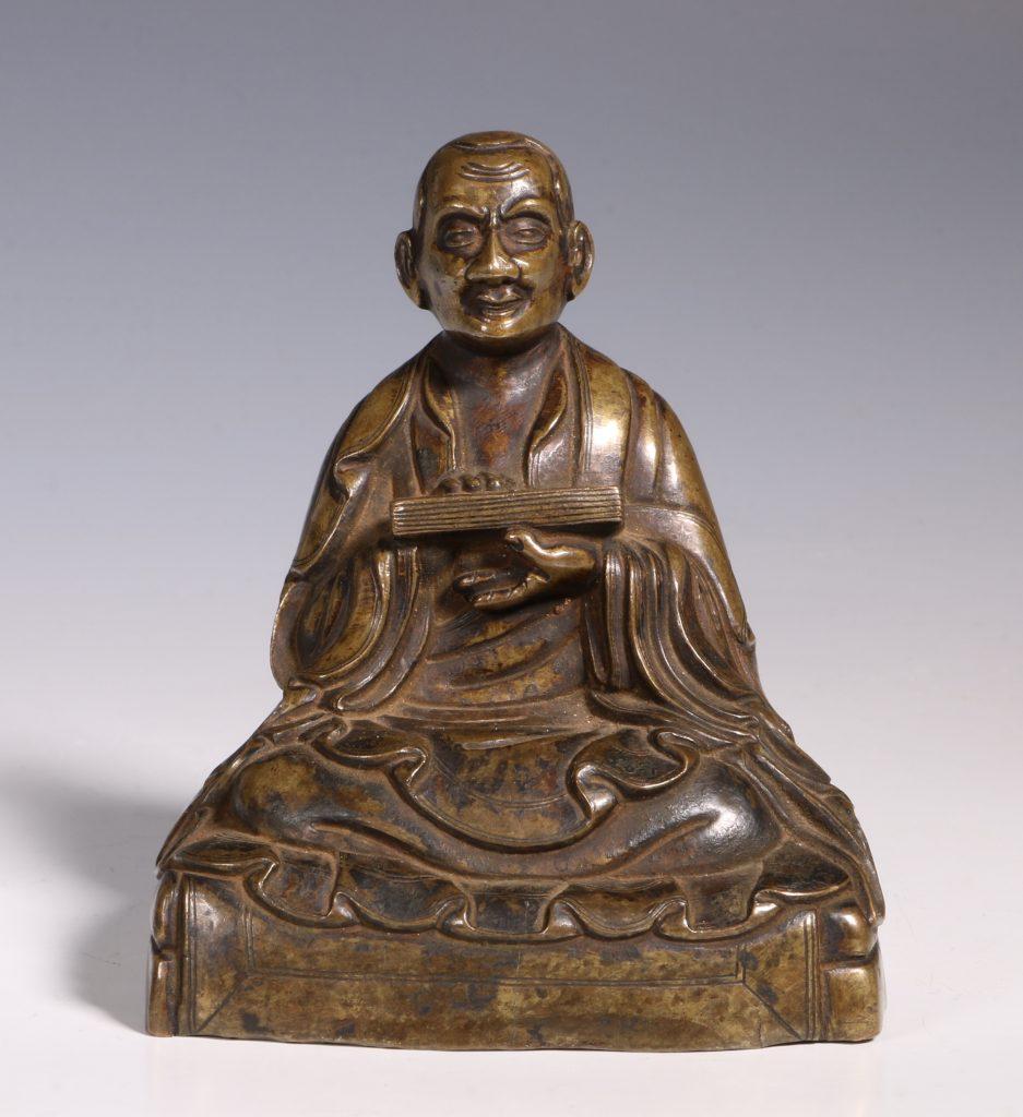 Tibetan Repousse Bronze Figure of Gopaka 17thC