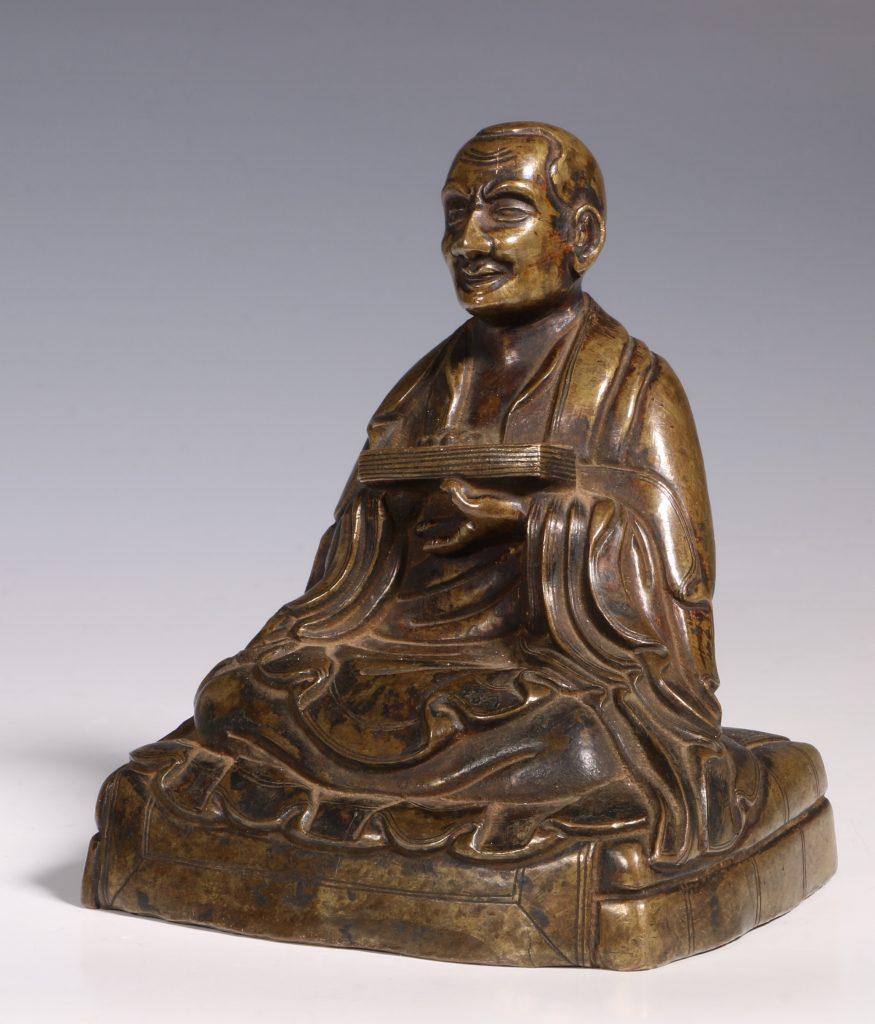 Tibetan Repousse Bronze Figure of Gopaka 17thC 2