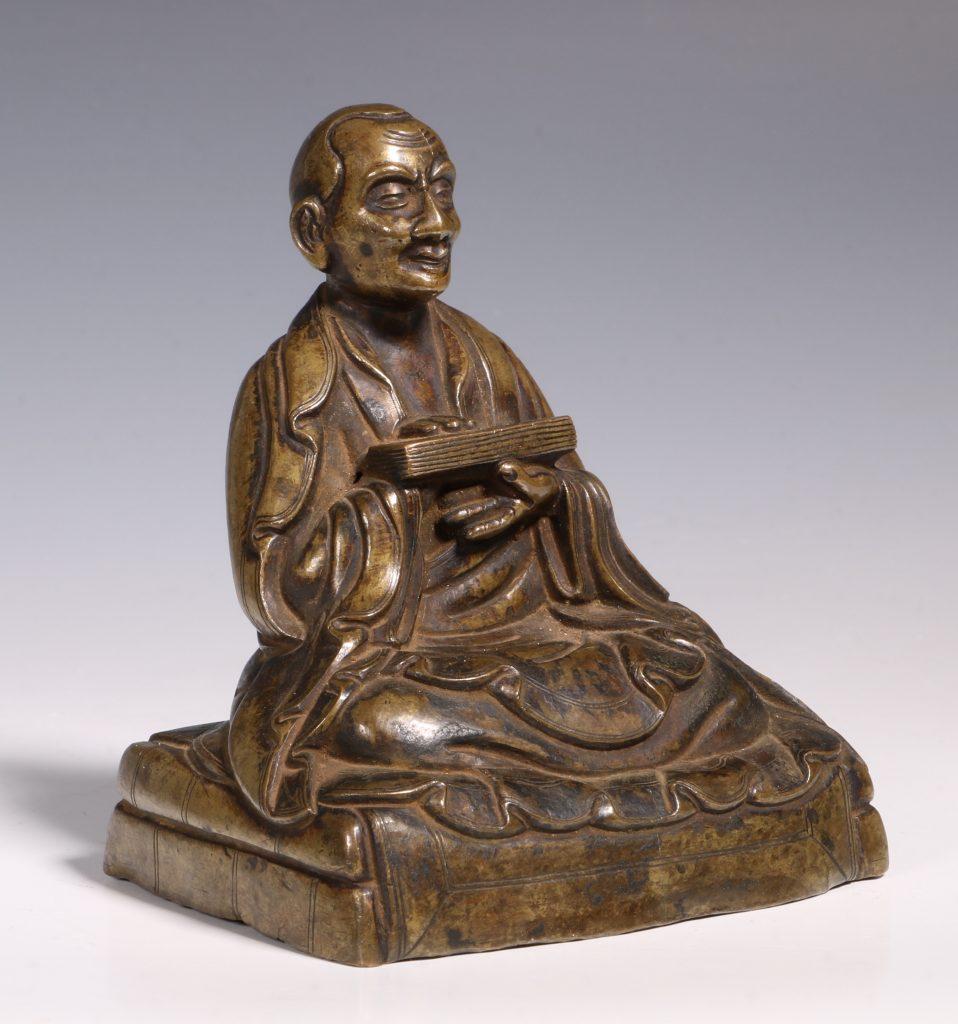 Tibetan Repousse Bronze Figure of Gopaka 17thC 3