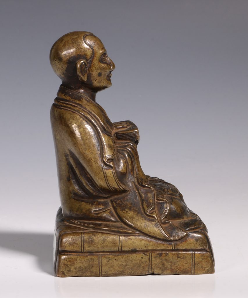 Tibetan Repousse Bronze Figure of Gopaka 17thC 4
