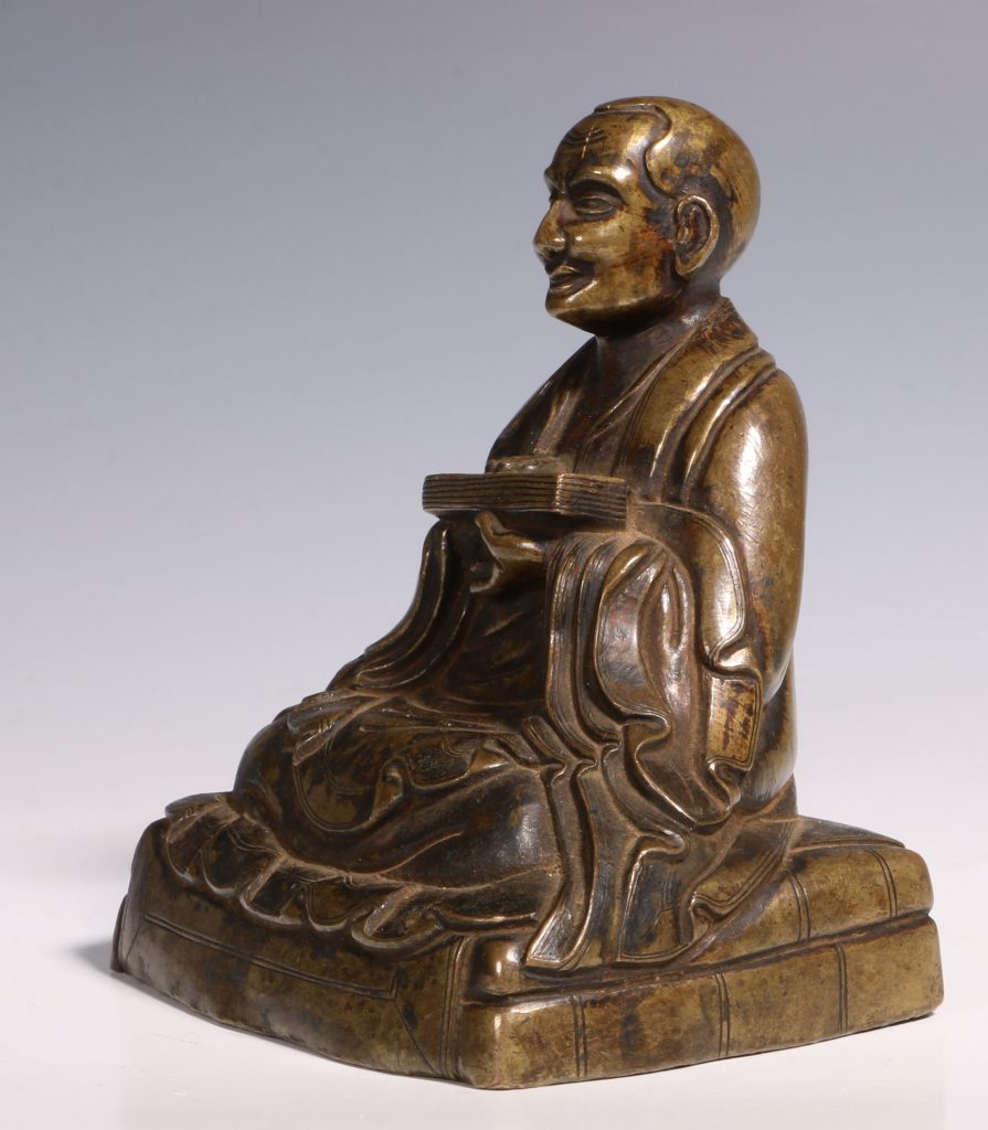 Tibetan Repousse Bronze Figure of Gopaka 17thC 5
