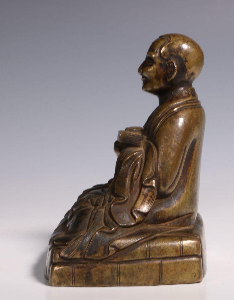 Tibetan Repousse Bronze Figure of Gopaka 17thC 6