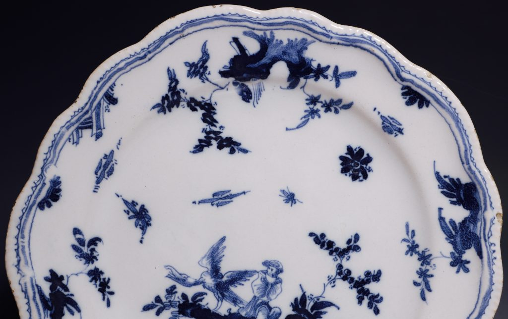 A French Faience Blue and White Dish Mid 18thC 2