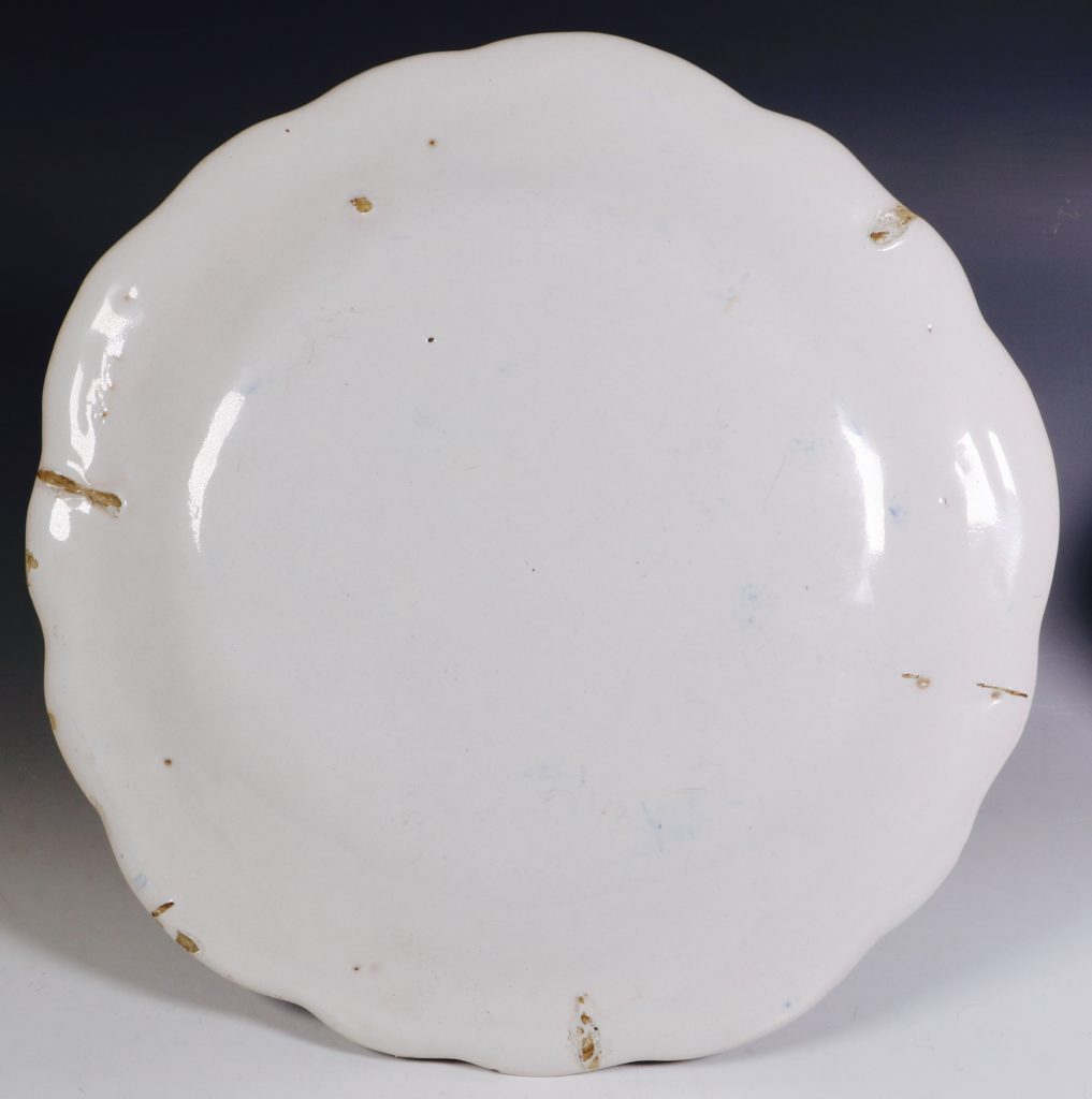 A French Faience Blue and White Dish Mid 18thC 4