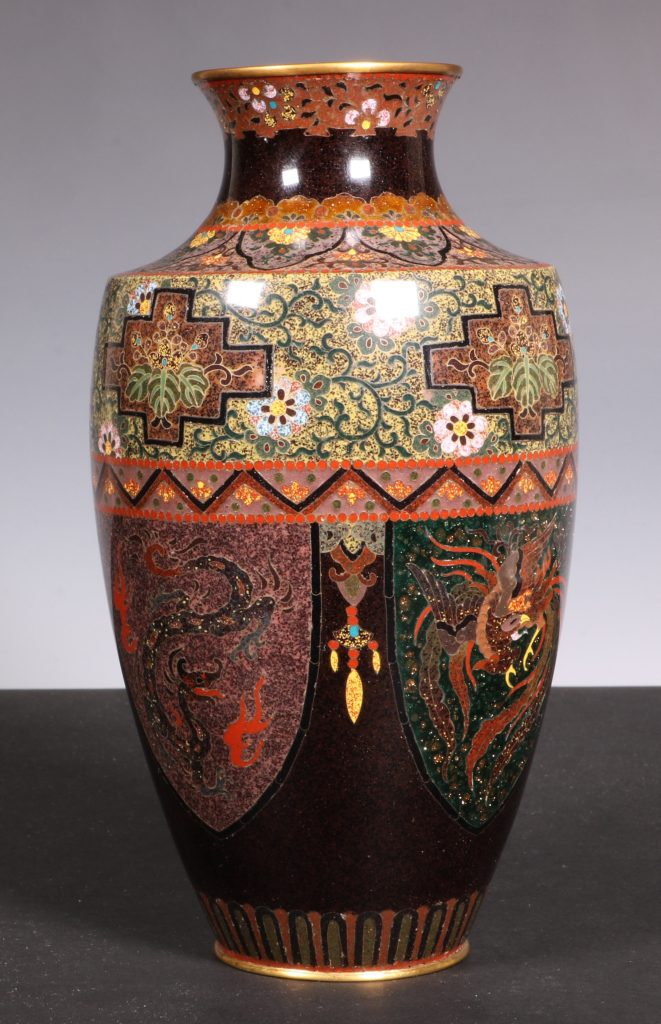 Japanese Cloisonne Vase Meiji 3