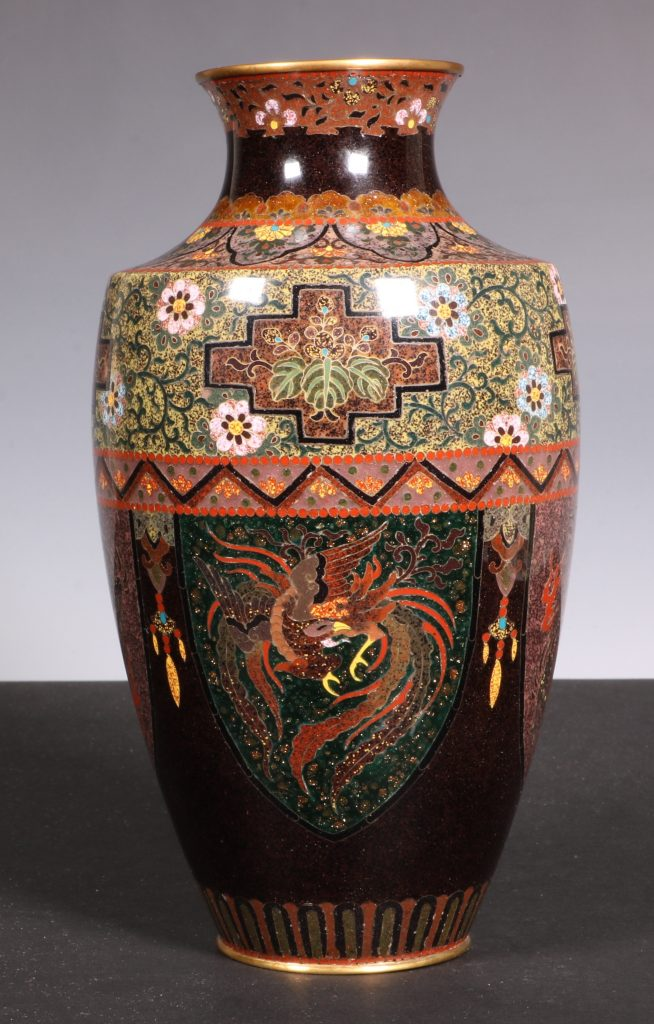 Japanese Cloisonne Vase Meiji 4