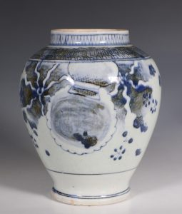 Japanese Arita Blue and White Vase L17thC