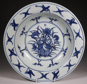 A Large Ming Blue and White Deep Dish Jiajing C1522-66