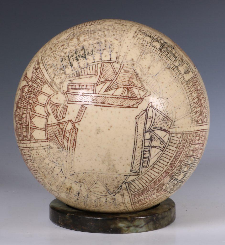 An Ottoman Engraved Ostrich Egg Turkey 18/19thC 7