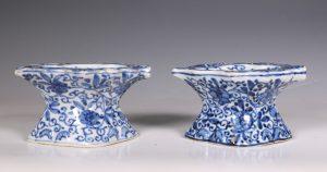 Pair of Blue and White Salts Kangxi C1700