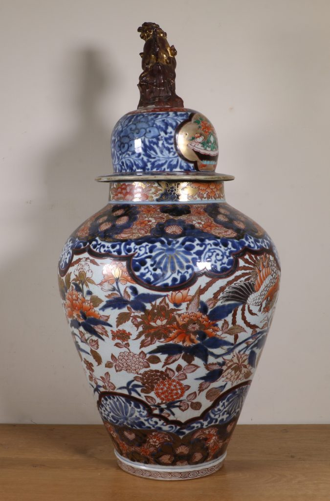 Japanese Imari Vase and a Cover L17thC 2