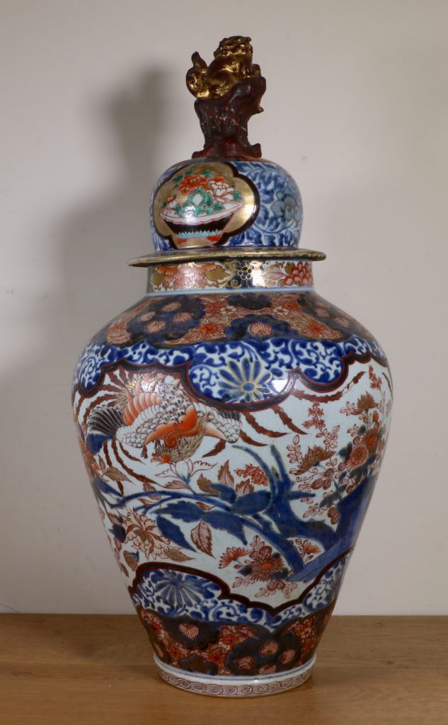 Japanese Imari Vase and a Cover L17thC 4