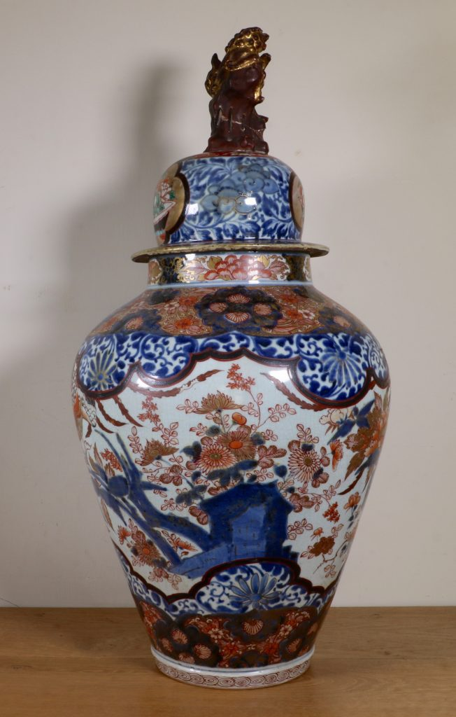 Japanese Imari Vase and a Cover L17thC 5