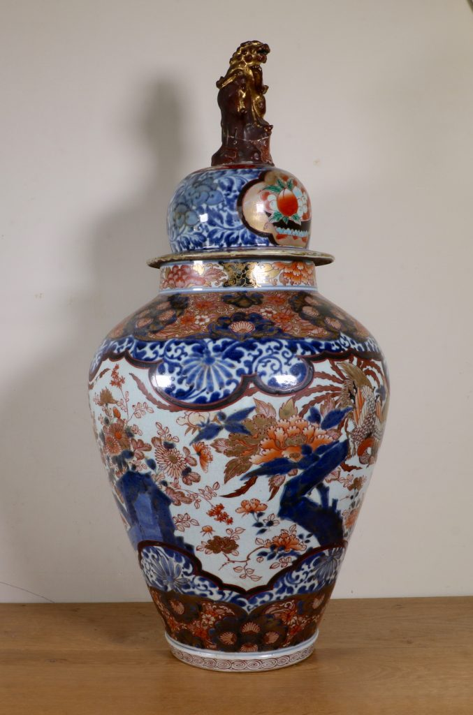 Japanese Imari Vase and a Cover L17thC 6