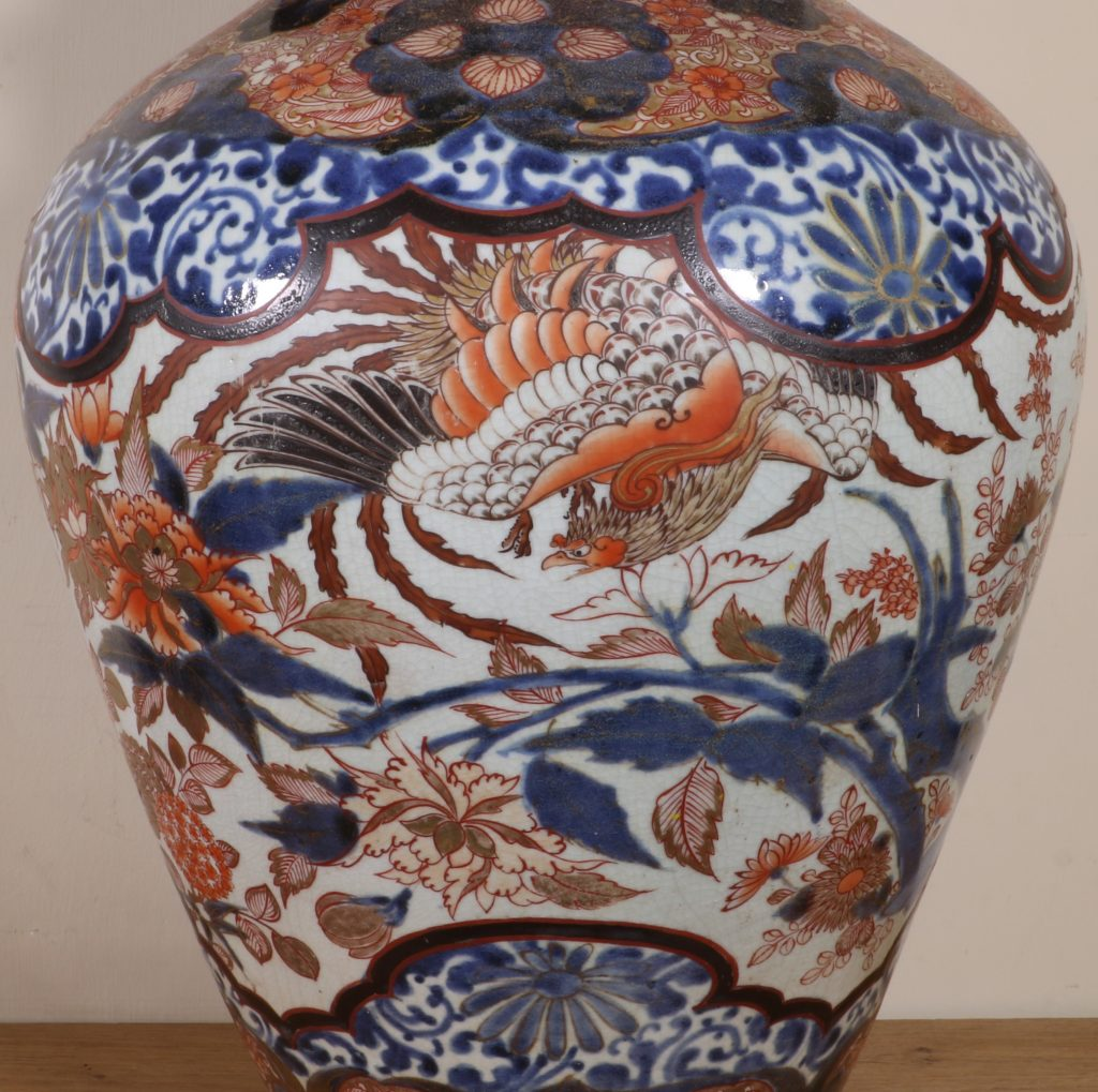 Japanese Imari Vase and a Cover L17thC 7
