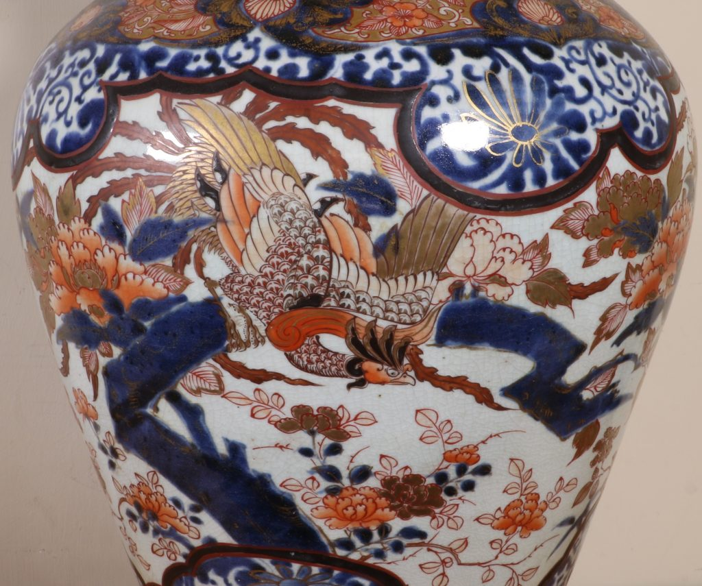 Japanese Imari Vase and a Cover L17thC 8