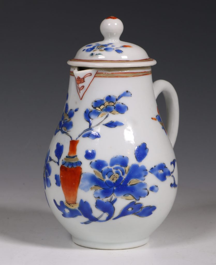 Chinese Enamelled Cream Jug and Cover C1740 2