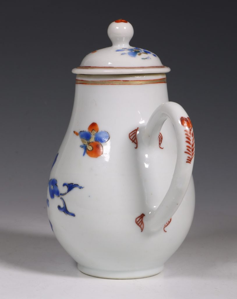 Chinese Enamelled Cream Jug and Cover C1740 3
