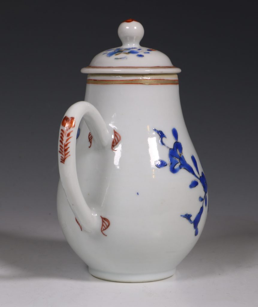 Chinese Enamelled Cream Jug and Cover C1740 4