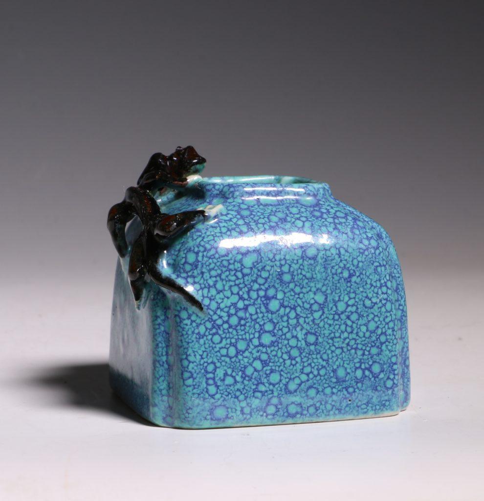 A Robins Egg Glazed Water Pot 19thC 1
