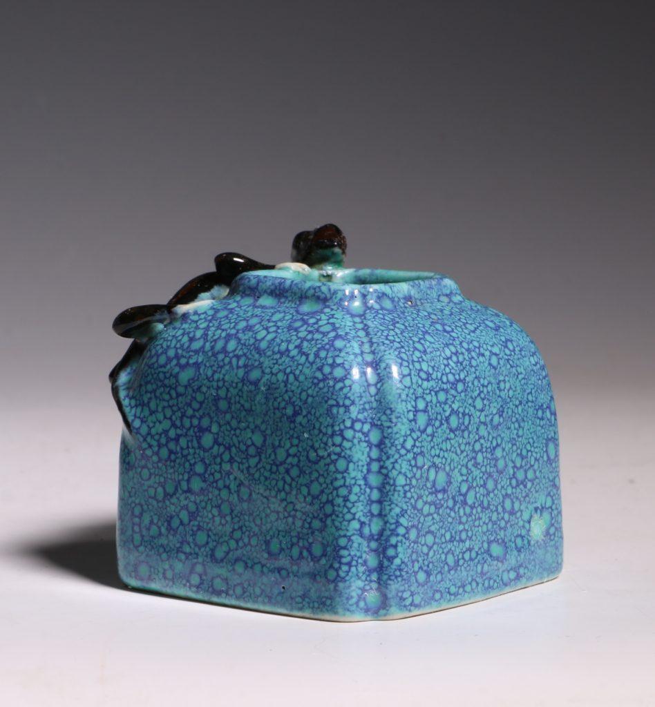 A Robins Egg Glazed Water Pot 19thC 3