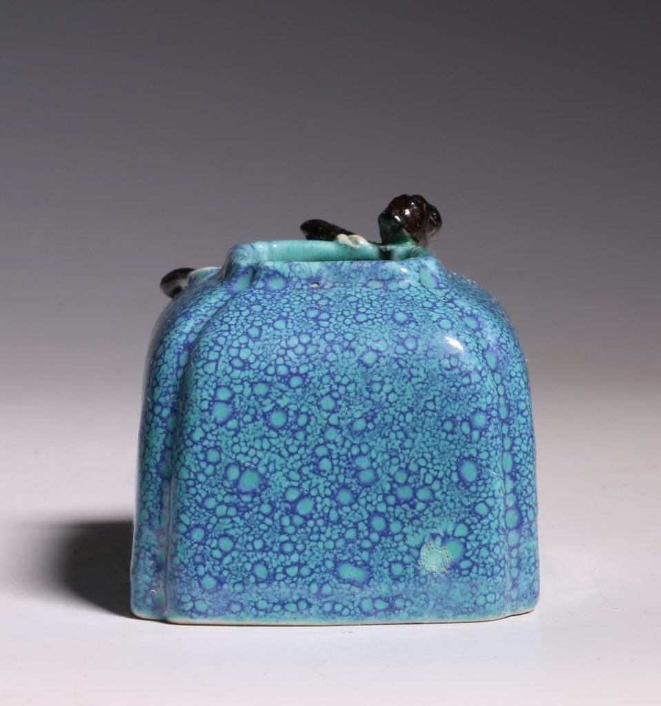 A Robins Egg Glazed Water Pot 19thC 4