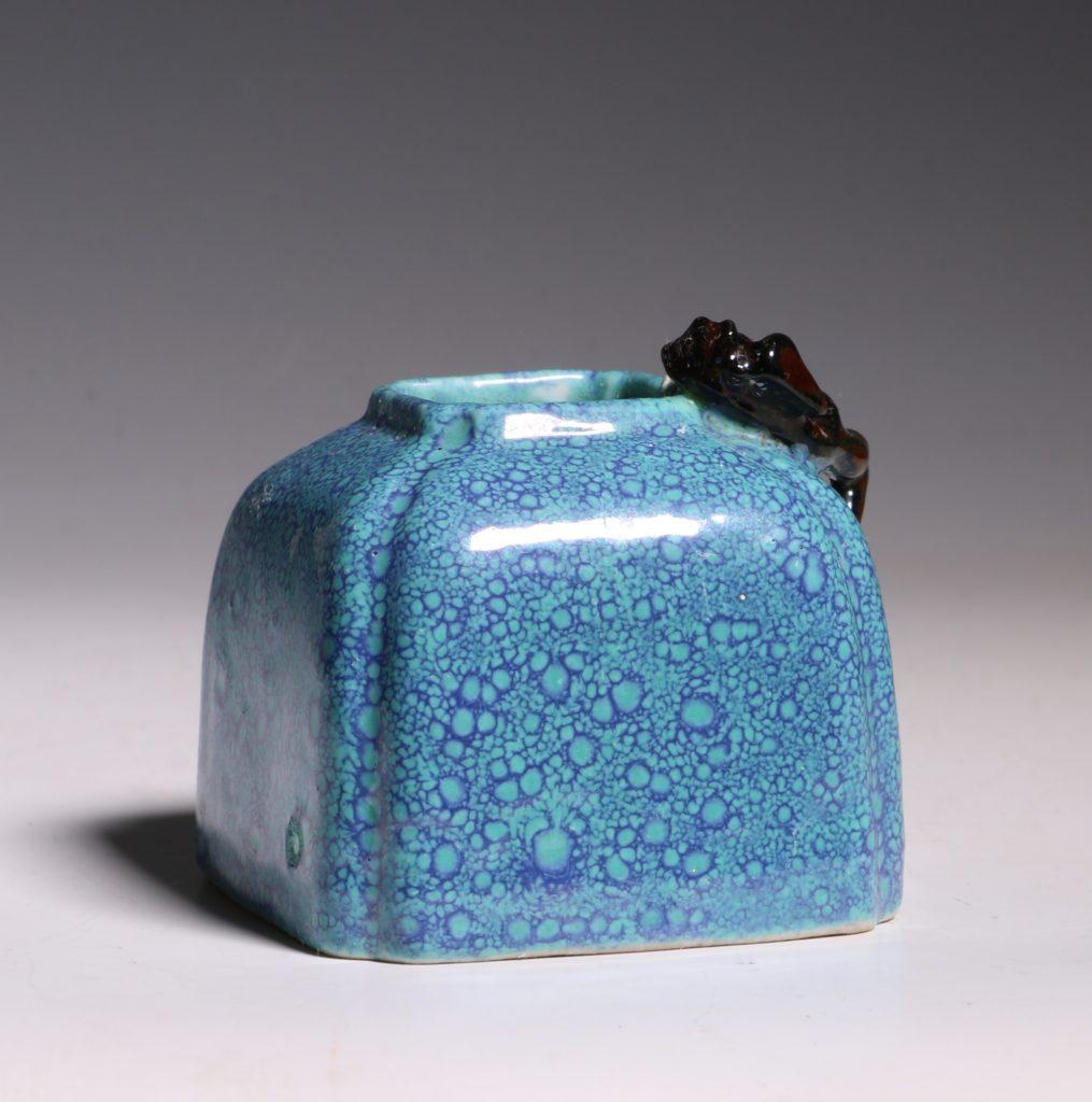 A Robins Egg Glazed Water Pot 19thC 5