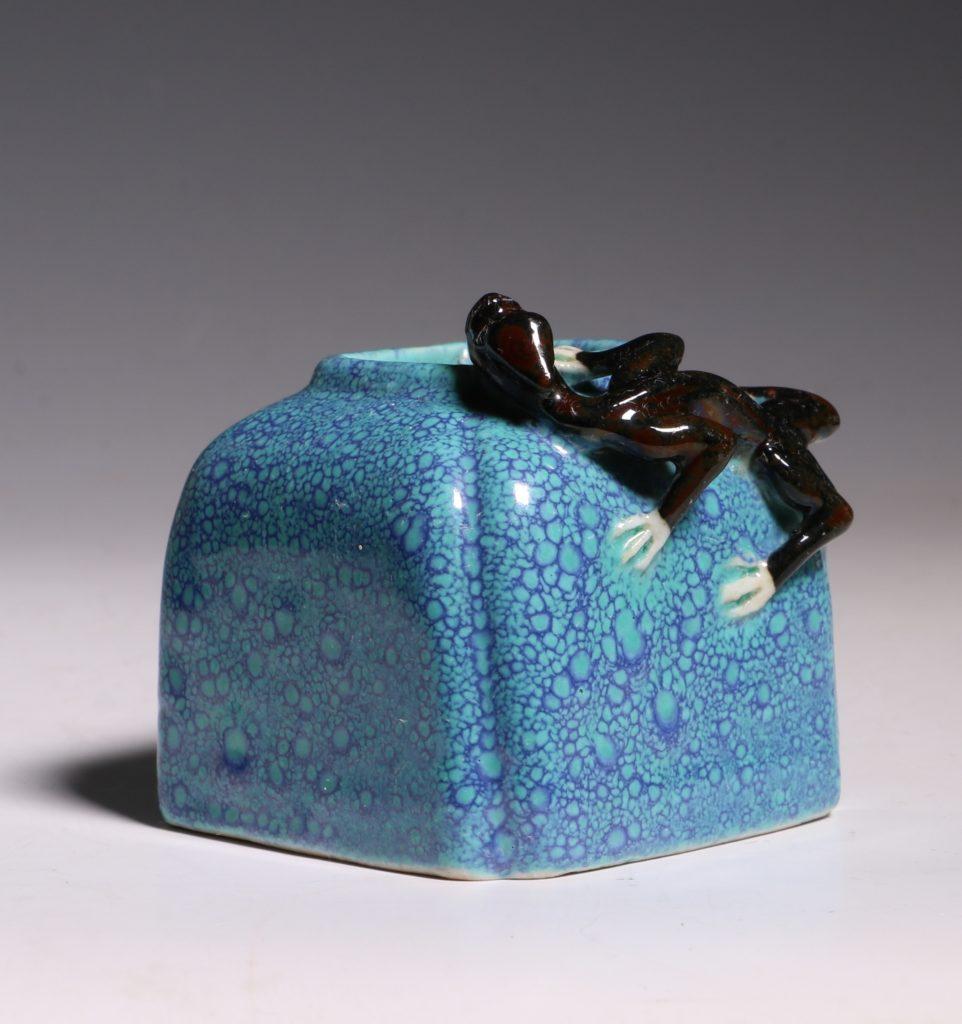 A Robins Egg Glazed Water Pot 19thC 6
