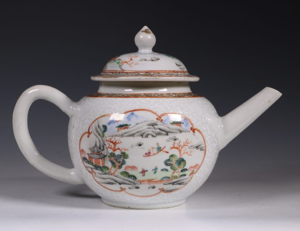 A Fine Famille Rose Teapot and Cover C1735