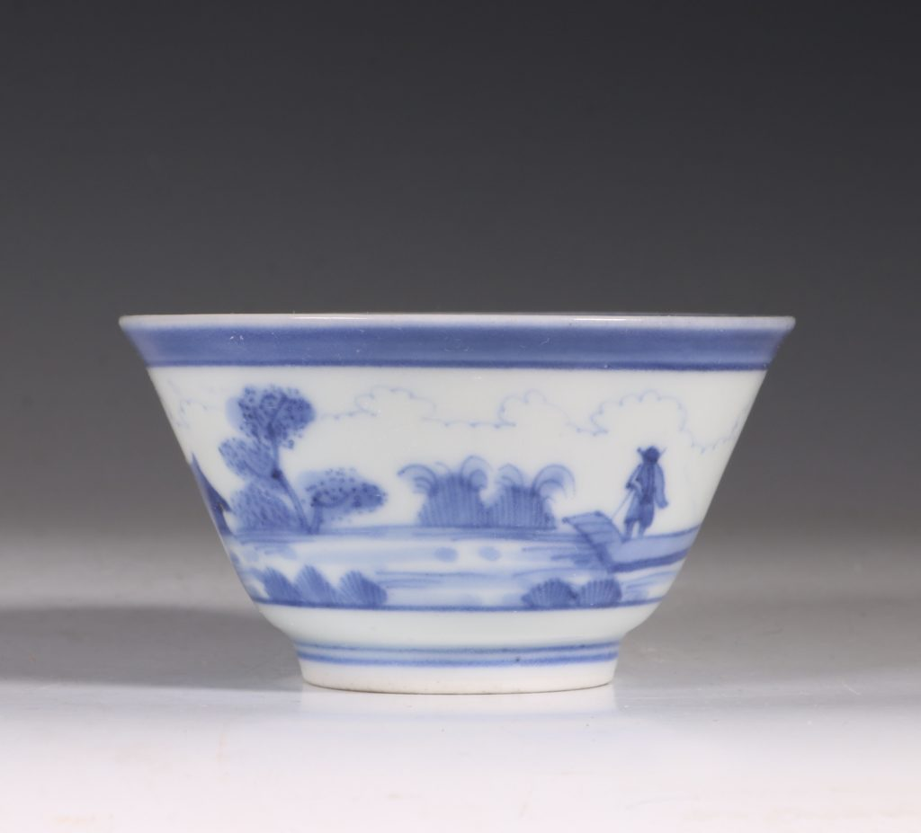 An Arita Blue and White Cup C1700 1