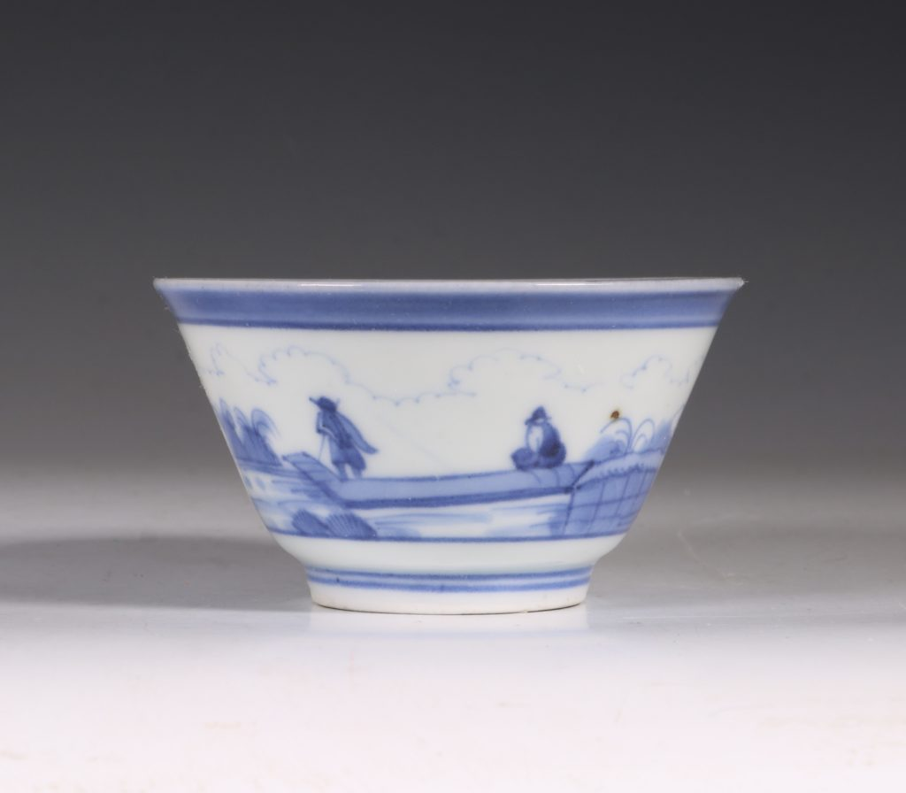 An Arita Blue and White Cup C1700 2