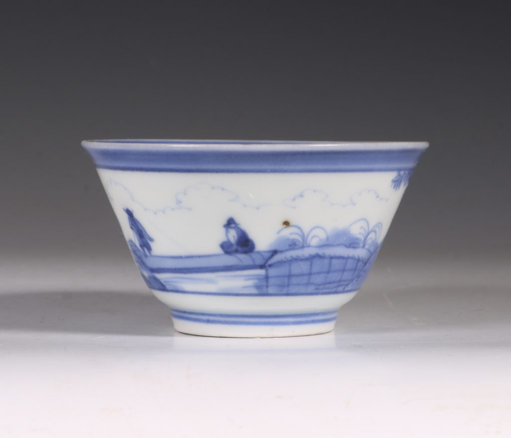 An Arita Blue and White Cup C1700 3