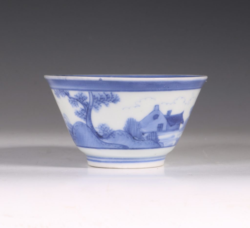 An Arita Blue and White Cup C1700 4