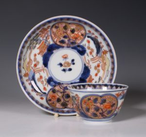 Japanese Arita Tea Bowl And Saucer E18thC