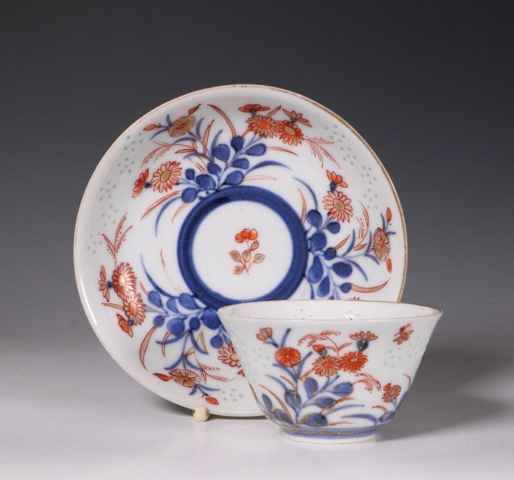 Rare Japanese Tea Bowl and Saucer E18thC