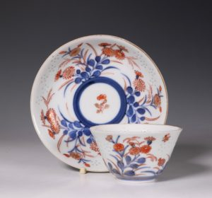 Rare Japanese Tea Bowl and Saucer E18thC