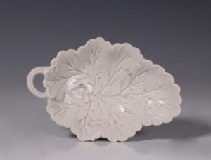 English Saltglaze Pickle Leaf 1750/60