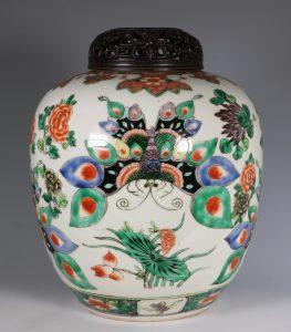 Large Famille Verte Jar 19thC