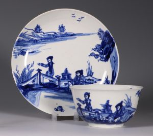 Vauxhall Tea Bowl and Saucer C1755/58