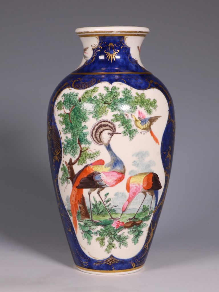 A Worcester Blue Ground Vase C1772