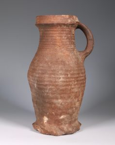 Siegburg Jug 14thC, Gift to General Bishop