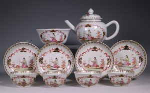 Chinese Export Famille Rose Part Tea Service 18thC