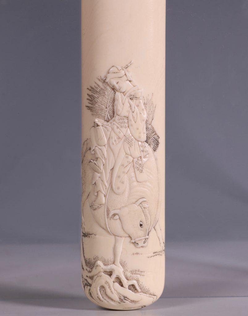 Fine Japanese Ivory Kiserutzutsu of Muso-Zutsu Form 2