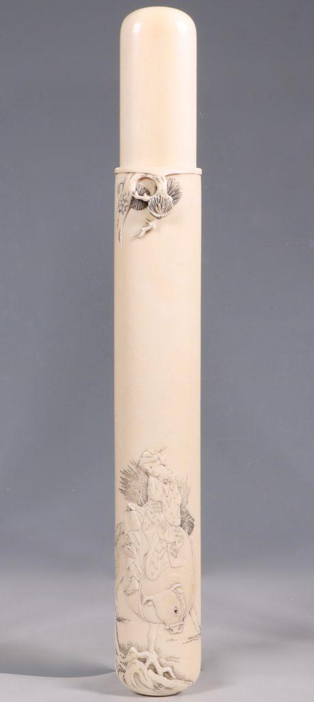 Fine Japanese Ivory Kiserutzutsu of Muso-Zutsu Form