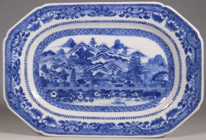 A Rare 'City of Guangzhou' Canton Waterfront Dish Qianlong C1775