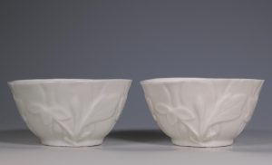 Pair of Blanc de Chine Bowls Kangxi