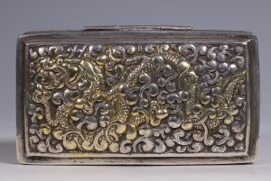A Silver-Gilt Box Bhutan 19thC