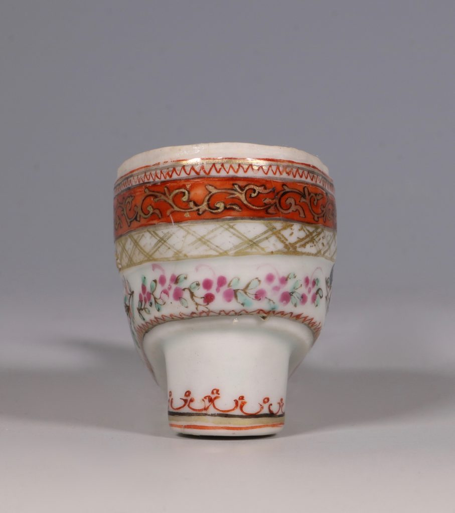 A Rare Chinese Export Famille Rose Shoe Snuff Box C1780 3